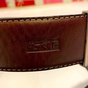 Like New Levi's Men's Leather Belt: 40/100 cm